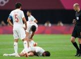 اصابة قاسية يتعرض لها سيبايوس في مباراة اسبانيا ومصر