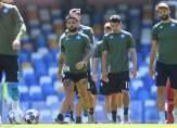 تدريبات نابولي إستعدادا لمواجهة برشلونة