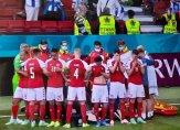 لحظة سقوط اريكسن على أرض الملعب في مباراة الدنمارك وفنلندا