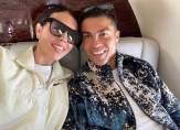 رونالدو وجورجينا يتشاركان لحظات الحب