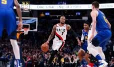 NBA: ناغتس يتقدم على بليزرز وفيلادلفيا يعادل النتيجة امام رايتورز