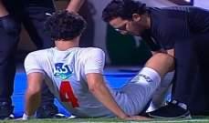 اصابة محمود علاء تثير القلق في الزمالك