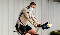 لاعبو ريال مدريد يتدربون بالكمامات في زمن كورونا