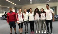 بعثة السباحة الى البطولة العربية في تونس