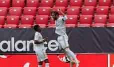 ريال مدريد يتشبّث بالصدارة بتخطيه بلباو ويوسّع الفارق مع برشلونة