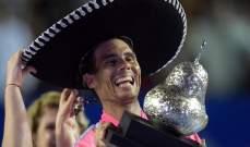 نادال يتحدث عقب رقمه المميز في المكسيك