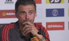 انريكي سعيد بما قدمه المنتخب الاسباني امام منتخب الويلز