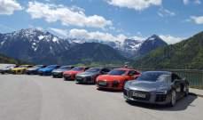"""رحلة مثيرة وراء عجلة قيادة سيّارة """"أودي أر 8"""" في ألمانيا"""