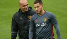 مدرب بلجيكا يرشح هازارد للفوز بالكرة الذهبية