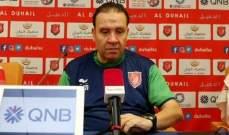 مدرب الدحيل : لن نقبل باية نتيجة غير الفوز امام قطر