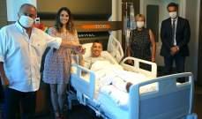 فاتح تيريم يزور موسليرا في المستشفى