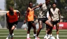 ريال مدريد يجري تدريبات روتينية بعد لقاء غرناطة