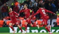 ليفربول يحقق فوزاً مثيراً امام ميلان وخماسية لاياكس وتعادل اتلتيكو وبورتو