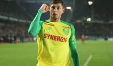مهاجم نانت لاعب الشهر في الدوري الفرنسي لكرة القدم