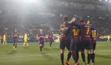 برشلونة يقتنص التعادل من فياريال في الدقائق الاخيرة