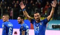 ايطاليا تضرب بسداسية وفوز سهل للماتادور وتعادل مثير للسويد والدنمارك