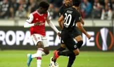 الدوري الاوروبي: ارسنال يكتسح فرانكفورت بثلاثية وفوز اشبيلية وايندهوفن وخسارة مدوية للاتسيو