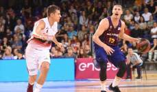 برشلونة يحافظ على صدارته في الدوري الاسباني لكرة السلة