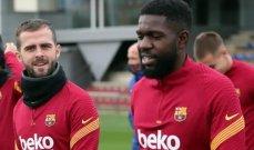 بيانيتش واومتيتي يشغلان اروقة برشلونة