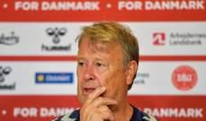 مدرب الدانمارك خاب امله بعد التعادل