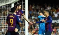 الليغا : برشلونة يواصل نزيف النقاط بتعادل جديد أمام فالنسيا