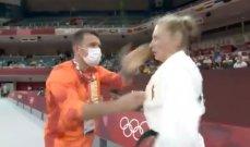 تحذير لمدرب جودو ألماني صفع لاعبته في أولمبياد طوكيو