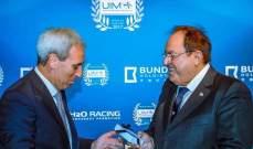 رئيس الاتحاد الدولي للمحركات المائية يلتقي الرئيس الحريري