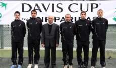 فريق لبنان يواصل الاستعدادات لمواجهة باكستان في كأس ديفيس