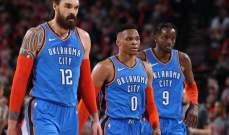 NBA: اوكلاهوما يتفوق على بورتلاند بعد شوط اضافي واحد