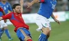 التشكيلة المتوقعة لقمة اسبانيا و ايطاليا
