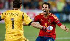فابريغاس : احترمنا ايطاليا وفخور بانتمائي لاسبانيا