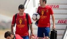 الماتادور الاسباني يصل مدريد متوجاً بلقب اليورو