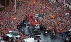 شاهد احتفالات المنتخب الاسباني في مدريد والاستقبال الشعبي الكبير