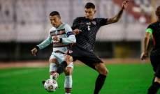 علامات لاعبي منتخبي البرتغال وكرواتيا بعد المواجهة