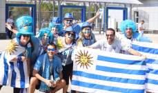 جماهير الأوروغواي في طريقها إلى روستوف أرينا