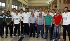 مغادرة بعثة لبنان في كرة السلة الى تايبه للمشاركة في كأس وليم جونز