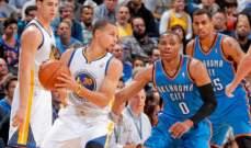 NBA:  نقاط كارميلو الـ45 لم تمنع الخسارة وووريورز يتخطى ثاندر بصعوب