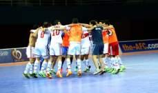 لبنان يسجل انتصاره الثالث على التوالي في بطولة غرب اسيا لكرة الصالات
