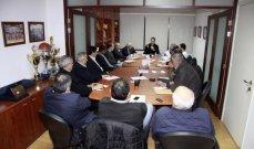 رئيس الاتحاد اللبناني  لكرة السلة يجتمع مع رؤساء الاندية