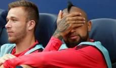 فيدال يعبر عن سعادته في برشلونة