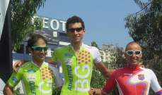 الياس ابو رشيد بطل لبنان لسباق الدراجات الهوائية ضد الساعة لعام 2014