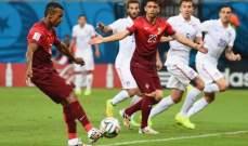 البرتغال تحتفظ بامل التأهل بعد تعادلها مع اميركا 2-2