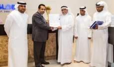 شركة أف أس غلوبال في دبي تتلقى التقدير من فريق النصر الاماراتي