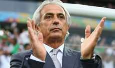 خليلوزيتش: لا اتفاق حتى الساعة لتدريب الجزائر