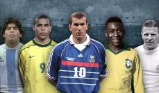 5 أسماء عربية في قائمة أعظم 48 أسطورة في تاريخ كرة القدم!