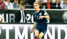 فليتشر متفائل من المنتخب الاسكتلندي بالرغم من الخسارة امام المانيا