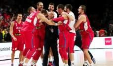 صربيا تتاهل لمواجهة اميركا في نهائي بطولة العالم لكرة السلة
