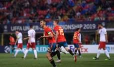 بطولة اوروبا تحت 21 سنة:اسبانيا تكتسح بولندا وايطاليا تفوز على بلجيكا