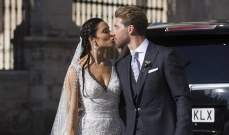 راموس يتوج حبه لبيلار بزفاف في كاتدرائية اشبيلية