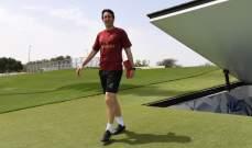 لقطات من تدريبات ارسنال في دبي
